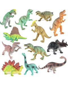 """12 Pack 9"""" Educational Dinosaur Toys - Kids Realistic Toy Dinosaur Figures For Cool Kids And Toddler Education!"""