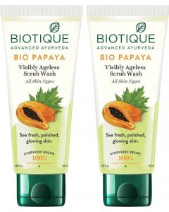 Biotique BIO Papaya Exfoliating 100 ml X2 Face Wash  (200 ml)