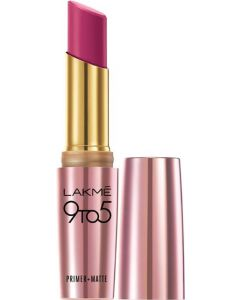Lakme 9 to 5 Primer Plus Matte Lip Color  (Plum Pick, 3.6 g)