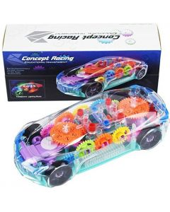 3D Super Concept Racing Educational Transparent Car Toy, Car Toy for Kids with 360 moves