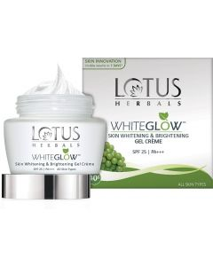 LOTUS HERBALS WhiteGlow Skin Whitening & Brightening Gel Creme SPF-25 I PA+++  (60 g) 4.319,111 Ratings & 2,047 Reviews