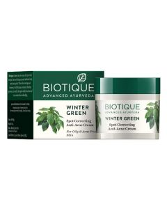 Biotique Bio Winter Green Spot Correcting Anti Acne Cream, 15g Visit the Biotique Store
