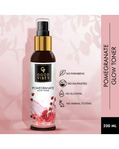 Good Vibes Pomegranate Glow Toner - 200 ml - Helps Minimize Pores, Keeps Skin Hydrated and Moisturized