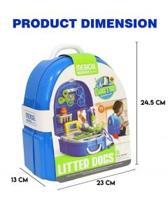 2 in 1 Doctor Kit Toy for Kids, Doctor Roleplay Medical Backpack Pretend Play Set
