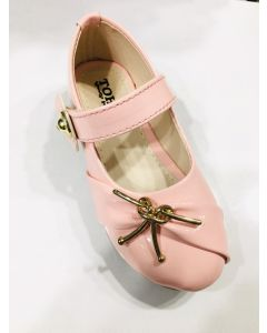 Baby pink kids bellies with golden bow