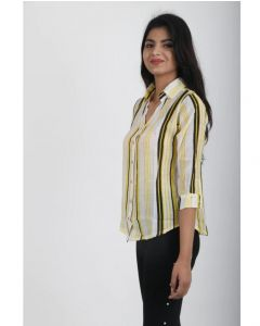 Beautiful trendy Yellow cotton formal shirt