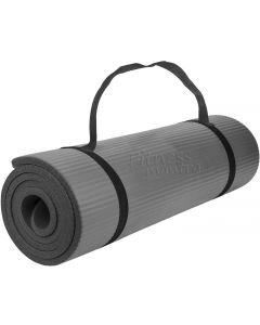 Exercise & Gym Mat with Strap Grey 6 mm Yoga Mat