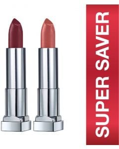MAYBELLINE NEW YORK Color Sensational Creamy Matte Lipstick Burgundy Blush,Nude Nuance