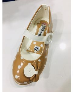Light brown fancy and stylish look KIds bellies with bow