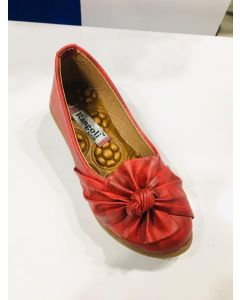 Cherry red trendy and stylish Kids bellies with flower