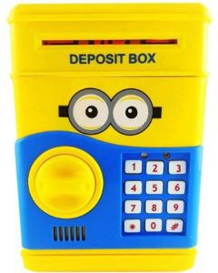 Varshine super duper baby atm Coin Bank  (Yellow, Blue)