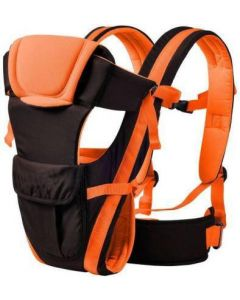 4-in-1 Adjustable Baby Carrier Cum Kangaroo Bag/Honeycomb Texture Baby Carry Sling/Back/Front Carrier for Baby with Safety Belt and Buckle Straps  Baby Carrier (Front Carry facing in) Baby Carrier  (Orange, Front carry facing out)