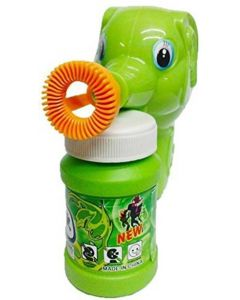 10 Elephant Hand Pressing Bubble Toy Gun with Bubble Liquid-Green