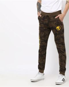 Printed Men Brown Track/Jogger Pant