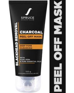 Spruce Shave Club Charcoal Peel Off Mask For Blackhead Removal  (100 g)