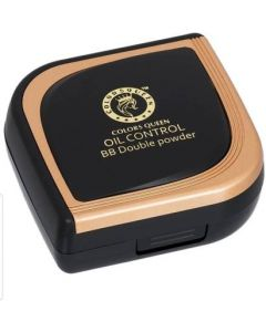 Colors Queen OIL CONTROL COMPACT 2 IN 1 HD DOUBLE POWER COMPACT Compact  (Natural Color, 24 g)