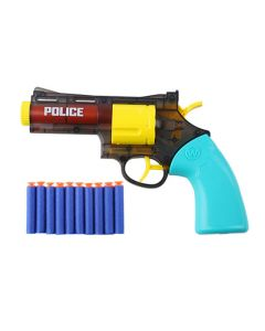 Cutie Soldier 2 IN 1 Dual Function Bullet and Water Blast Soft Shooting Police Protector Blaster Toy Super Shoot Series