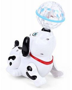 Little Dancing Dog with Music and Flashing Lights
