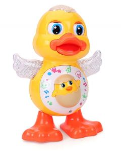 Educational Dancing Duck Toy with Light and Music  (Multicolor)