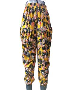 Women Girls lower Dhoti pattern Yellow black combination