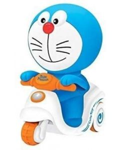 Doraemon Pressure Friction Toddler Car Toy, Push and Go Doraemon Scooter Toy for Kids