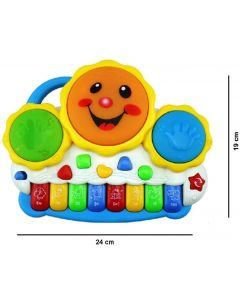 Drum Keyboard Musical Toys  (Multicolor)
