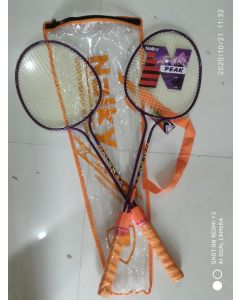 Nalky sports badminton racket in heavy grip and double rod