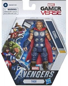 Marvel Gamerverse 6-inch Thor Action Figure Toy, Iconic Armor Skin, Ages 4 And Up  (Multicolor