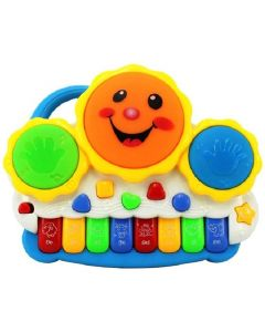 Gift World Drum Keyboard Musical Toys With Flashing Lights  (Multicolor)