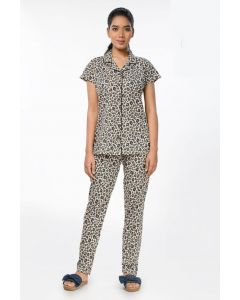 Women Imported Night suit with Cheetah print