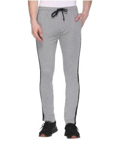 Striped Men Grey, Black Track Pants