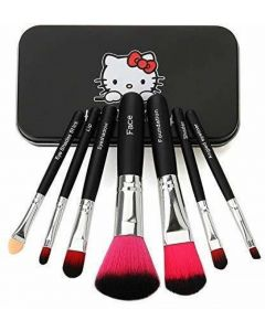 Fashion & Trend Hello Kitty Authentic 7pcs Mini Pink brush set  (Pack of 7)