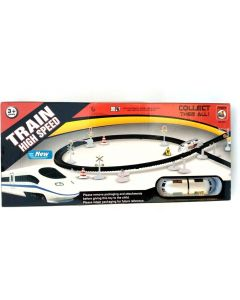 High Speed Rc Train Toy Set With Flyovers Track  (Multicolor)