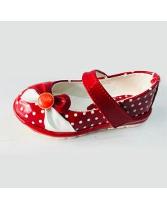 Girls Kids Bellies red and white dot printed