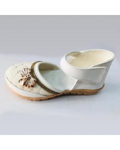 Stylish Flat White Sandal for Girls