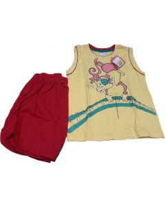 Yellow T. shirt and Red Shorts for cute Boys for 3 yrs