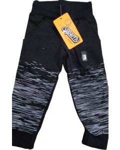 Black and Grey Combination of Kids Lower