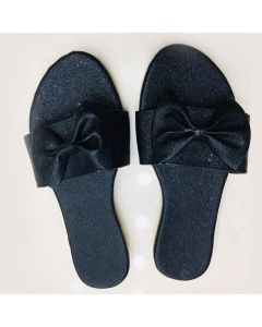 Women Black Flip-Flop with Bow