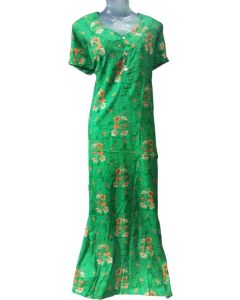 Women fancy cotton feeding gown with yellow floral print