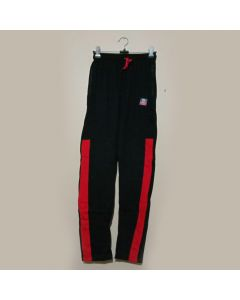 Black, Red Belt Track Pant