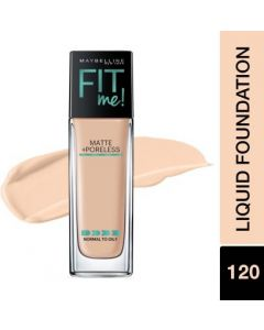 MAYBELLINE NEW YORK New York Fit Me Matte+Poreless Liquid(With Pump) Foundation  (120 Classic Ivory, 30 ml)