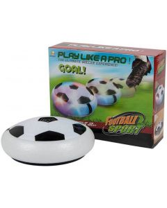 TinyTales Toy Soccer Air Powered Hover Soccer Ball with Foam Bumpers and Colorful 3D LED Lights for Indoor & Outdoor Football