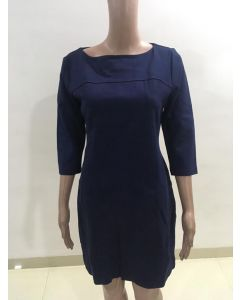 Navy blue long straight beautiful top