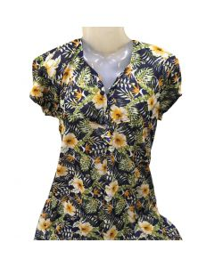 Night gown with black and yellow combination