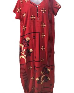 Women fancy pure cotton Gown with glamarous print