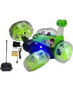Ben 10 Rechargeable Stunt Car Big Size 360 Degree Rotating Remote Control