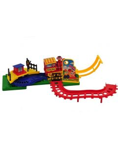 Train Fun Electronic Flip Track Action Toys Music And Light