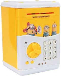 Security House Guard Anti Theft Piggy Bank with Password Lock - Minions
