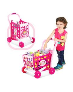 3 in 1 Kids Supermarket Shopping Cart Hand Induction with Light & Sound