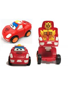 Pull Push Back Action Robot Car Toy for Kids, Racing Car Toy, Car to Robot, Random Color